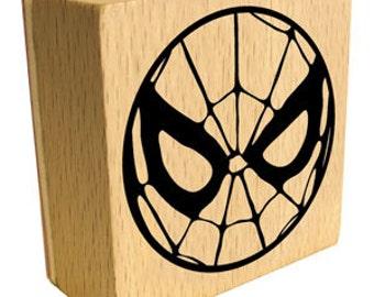 Spiderman Mask Rubber Stamp