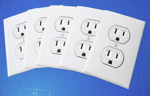 FUNNY Outlet Wall plug in sticker decal prank joke FAKE seen on youtube phone 3