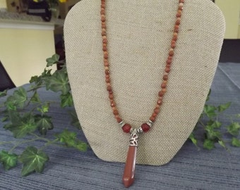 Agate Gemstone Bead Necklace