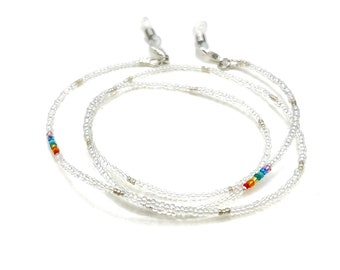 Eyeglass Chain - Chakra Necklace - Multicolor Necklace - Eyeglass Necklace - Crystal Necklace - Beaded Necklace - Glasses Necklace