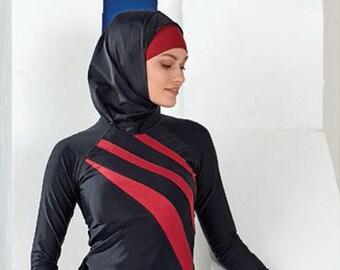 f8cf924524f Adabkini Gozde Muslim Swimsuit Islamic Full Cover Modest Swimwear Beachwear  burkini