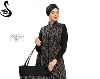 57f9b5ba29 Adabkini Armes Muslim Long Swimsuit Islamic Full Cover Modest Swimwear  Beachwear Bathingsuit -Bag Excluded-