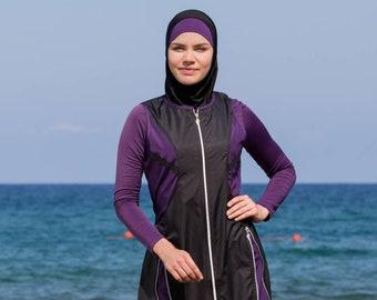 601a468a8b2 Adabkini Mira Muslim 5-piece Long Swimsuit Islamic Full Cover Modest  Swimwear Beachwear Bathingsuit
