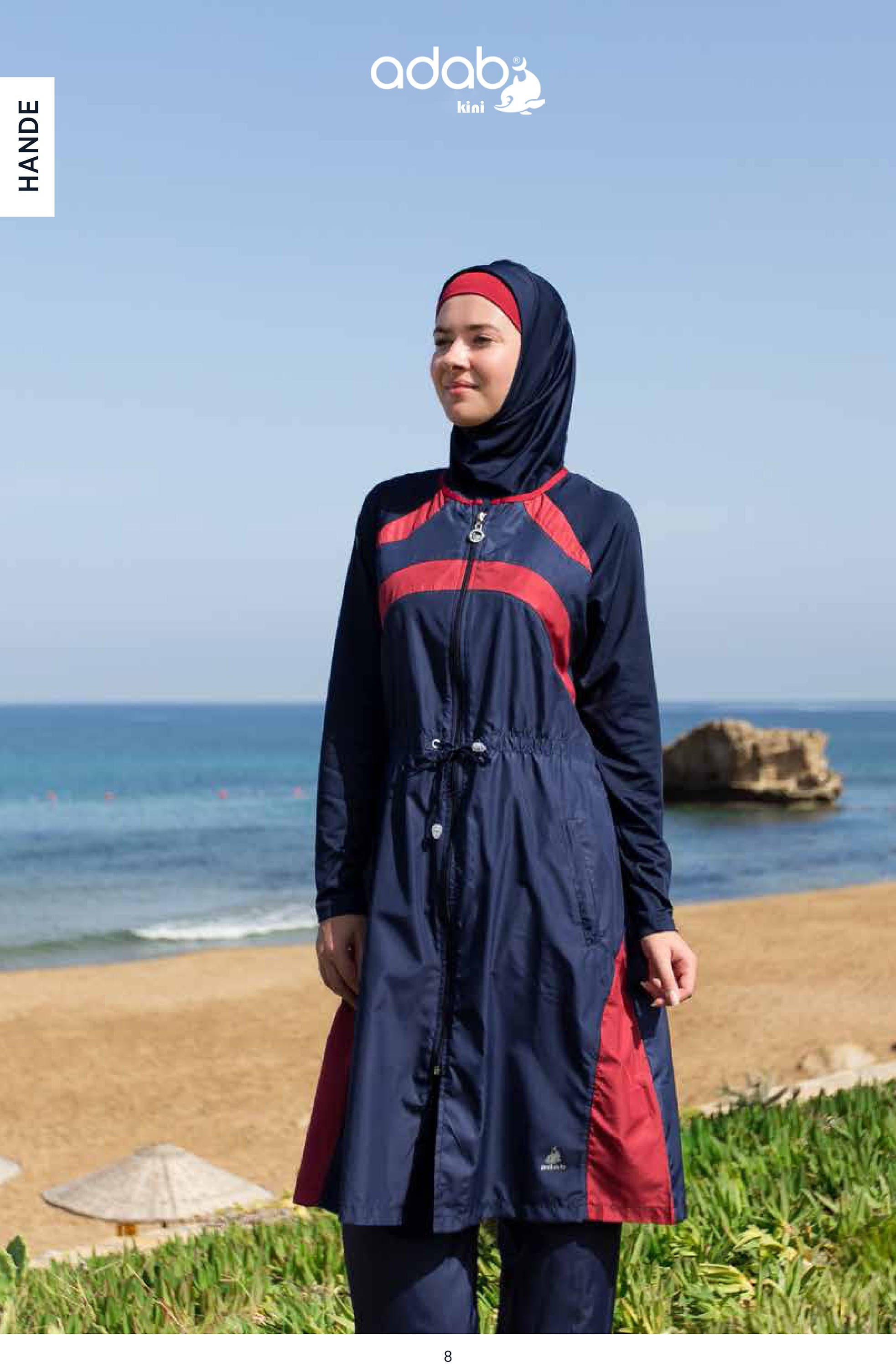 d9e78aaf76 Small - Adabkini HANDE, Womens modest swimsuit, bathing suit, Full covered  with head cover, burqini