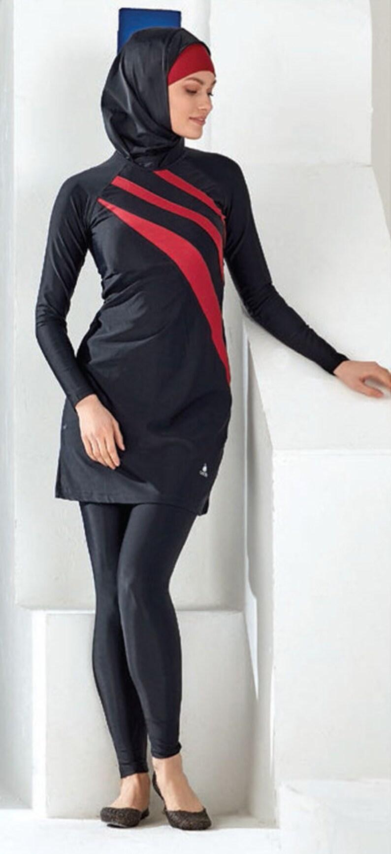 c98a7c3a7b3ea Adabkini Gozde Muslim Swimsuit Islamic Full Cover Modest | Etsy