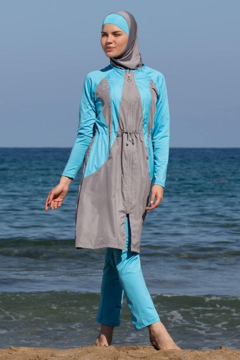 ece83d2b7800f SM-Adabkini ZUMRA Modest Swimsuit design 4-piece with | Etsy