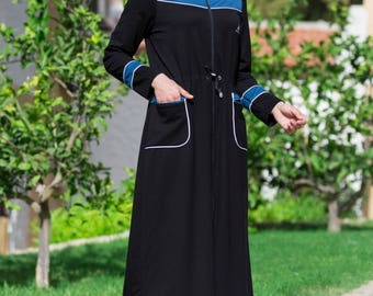 Adabkini Almira Long Sweat suit with hoodi and pants, excellent for muslim women for full body covered