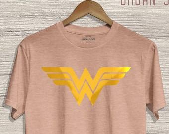 Wonder Woman Shirt. Wonder Woman Emblem Shirt. Wonder Woman Logo Shirt. Female Super Hero Shirt. #12335