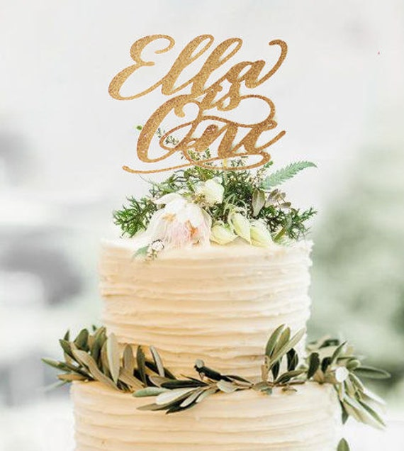 Rose Gold BirthdayCustomized Cake Toppers Birthday