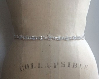 Bridal Sash-Bridal Belt-Thin Bridal Belt-Bridesmaid Belt-Bridesmaid Sash-Wedding Belt-Bridal Belt with clasp-rhinestone bridal belt sash