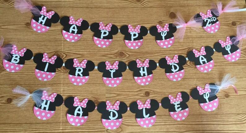 Minnie Mouse Head Birthday Banner