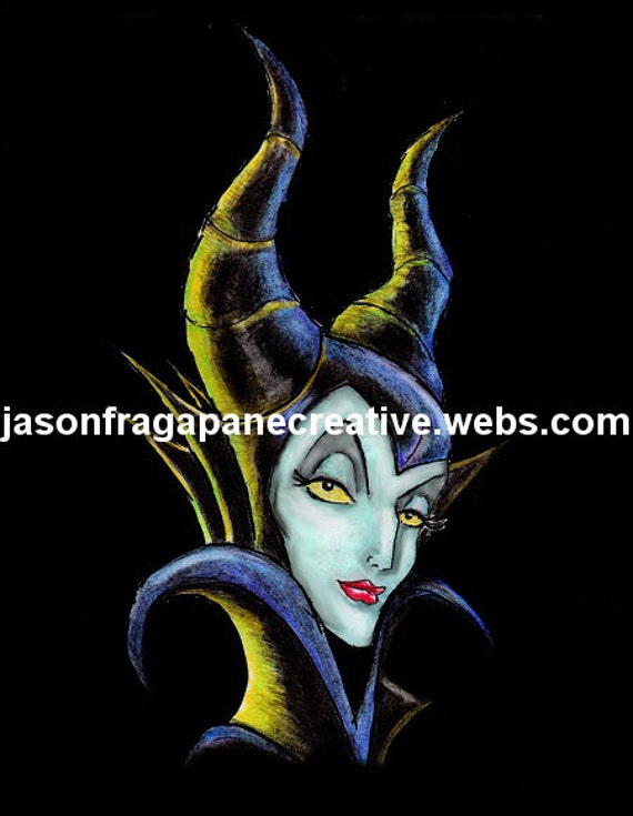 Disney Sleeping Beauty Maleficent Fan Art Print