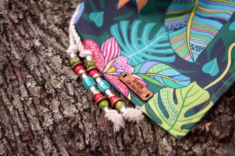 Boho dog bandana Summer dog bandana dog scarf Tropical Paradise dog bandana Colorful sog bandana Dog clothing Tropical dog bandana