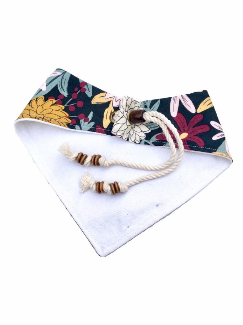 Dog gifts Boho dog bandana Brynn Dog bandana Cat bandana Dog scarf Floral dog bandana Fall dog bandana Dog clothes