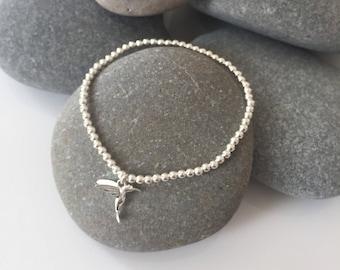 Personalize Bracelet,Gift for him Vintage Bracelet Sterling Silver Bird Bracelet,Silver Bracelet Rustic Bracelet