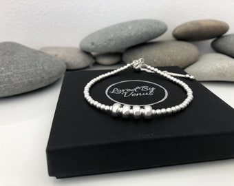 Sterling Silver 40th Birthday Bracelet 40 Gift Circle For Women