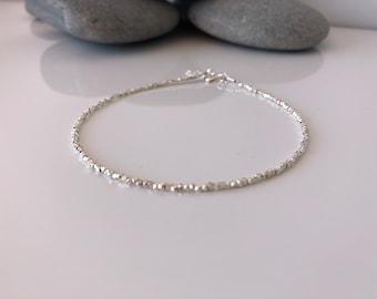 Silver beaded anklet. Silver Anklet. Karen hill anklet. Silver ankle bracelet. Beaded anklet. Anklet. Sterling Silver anklets. Tribal silver