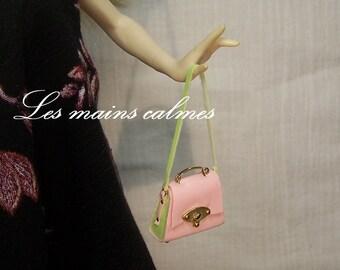 Sac à main miniature rose et vert