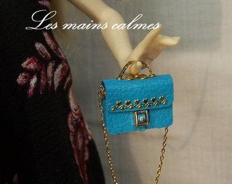 Sac à main miniature bleu