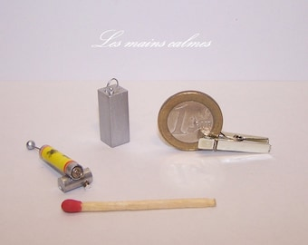 Insect spray sprayer and can.  1.12th Handmade Miniature