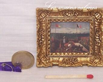 Cadre reproduction peinture  miniature