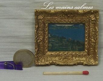 Cadre reproduction peinture miniature (Paul Cézanne)