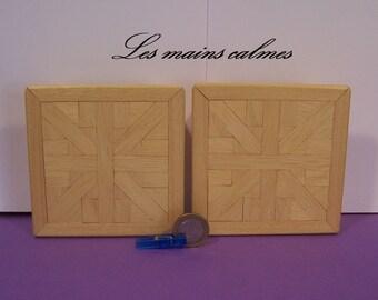 Low square table Miniature 10eme and 12eme