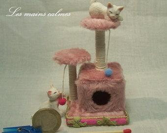 Arbre à chat MINIATURE rose  10éme et 12ème