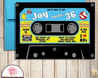 Cassette Tape Invite Etsy