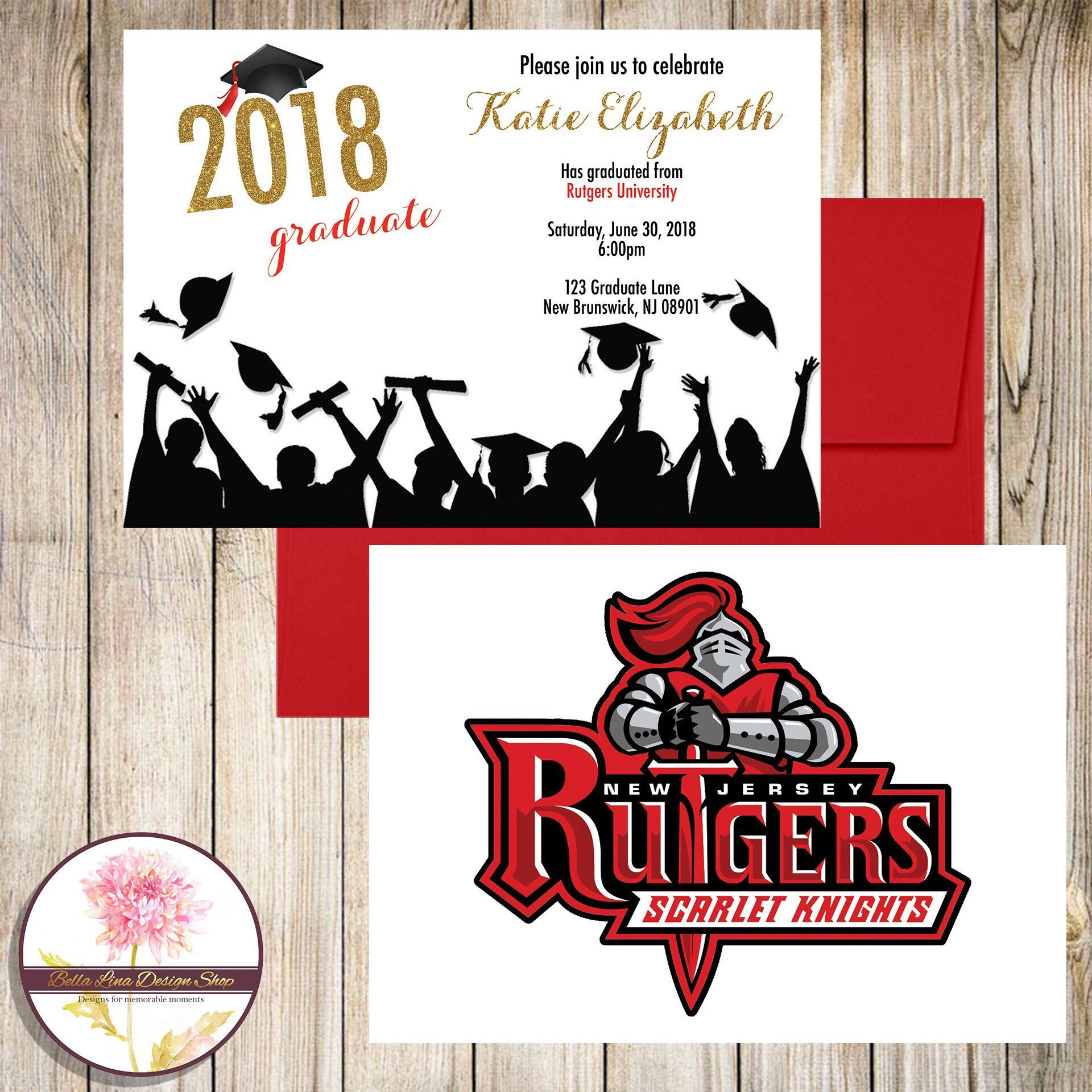 Graduation Invitation/College Mascot/High School Mascot | Etsy