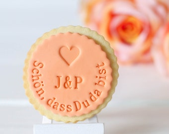I'm glad you're here cookie stamp / fondant stamps