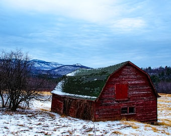 Barn Photograph, Fine Art Photography, Adirondack Decor, Home Decor, Landscape Photograph, Adirondack Mountain, Keene Valley, Fine Art Print