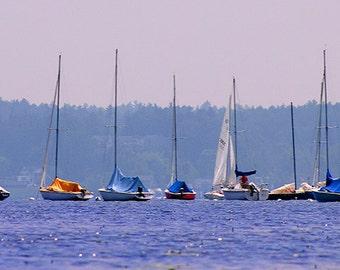 Sailboat Print, Saratoga Springs, Upstate New York, Sailing, Boating, Water Recreation, Sailing Art, Sailing Decor, Sailing Art, Wall Art