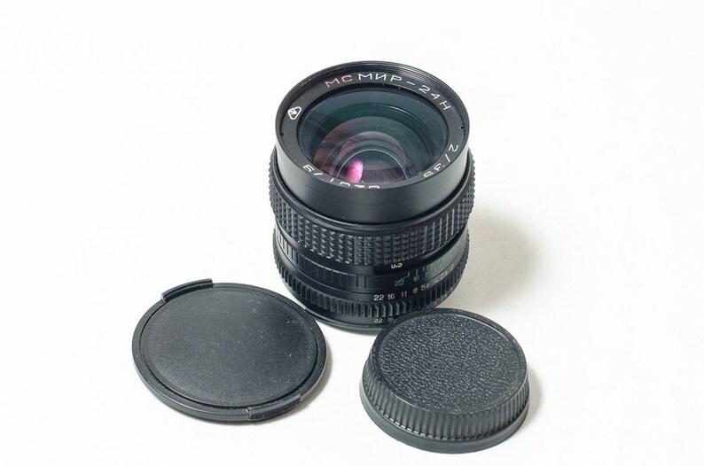 MC Mir-24N 24H 2/35 35mm f2 lens, Soviet lens for Nikon, Kiev, Nikkor  MINT
