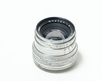 Jupiter-8 2/50 M39 rangefinder 50mm f2 lens. USSR lens. Soviet vintage lens for Leica, FED, Zorki 35mm film cameras. EXCELLENT
