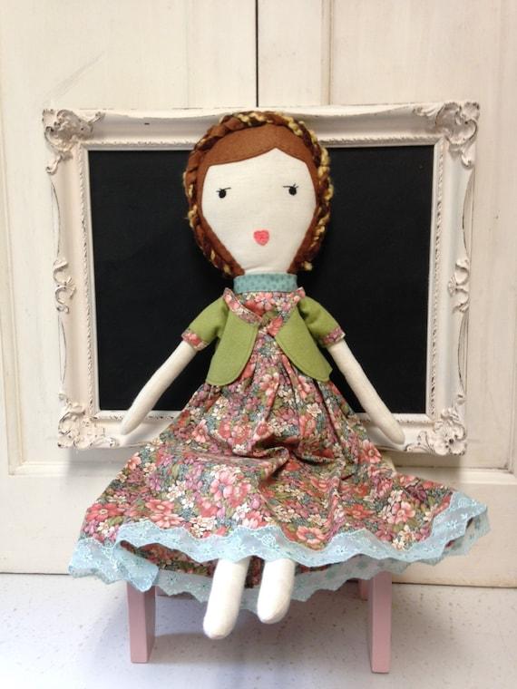 Ragdoll / poupée de chiffon à la main / tissu poupées / Custom Made tissu poupées / Dolls cuillère une poupée de chiffon / poupée / les jouets / peluche peluches