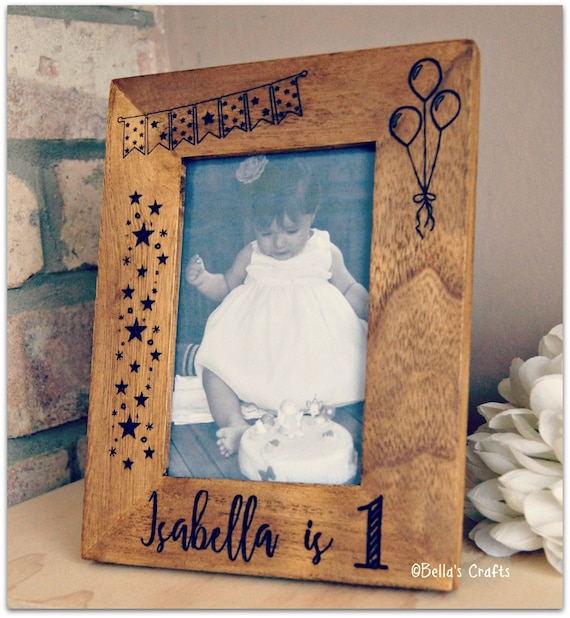 First Birthday Personalised Picture Frame Babys 1st