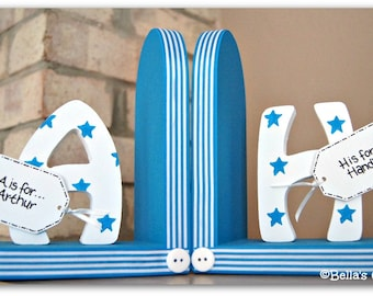 Personalised Bookends for children.