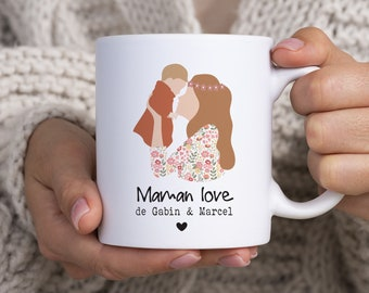 Mug personalized mom love - mom custom cup - mom gift - Mother's Day gift - 1st Mother's Day