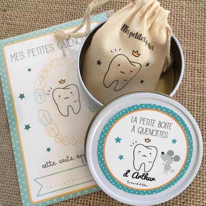 Kit boite range dents de lait + carte souvenir - Créatrice ETSY : lemondedebibou