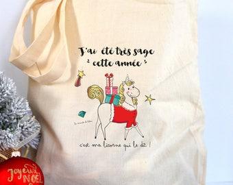 Christmas unicorn Christmas bag gift wrapping Christmas decoration