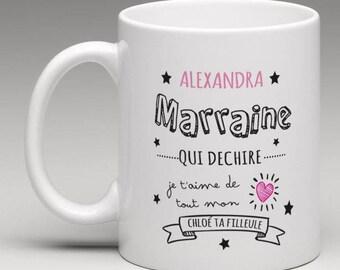 Custom mug godmother who rips Godmother gifts Godmother gifts request godmother Baptism gift super godmother