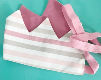Play Crown- dusty pink/pink stripe