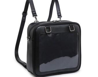 Ita Bag Clear Window Backpack Pin Display Crossbody Itabag