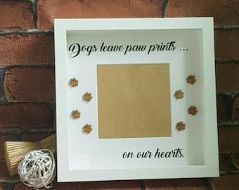 Paw Prints Frame Etsy