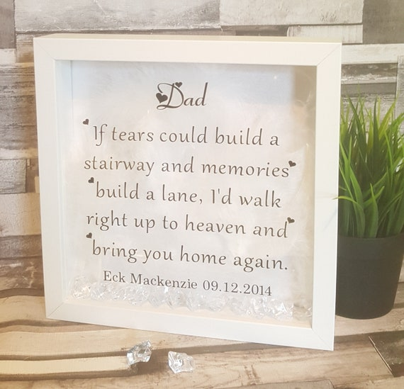 Memorial Gift Stairway To Heaven Frame Framed Verse Etsy
