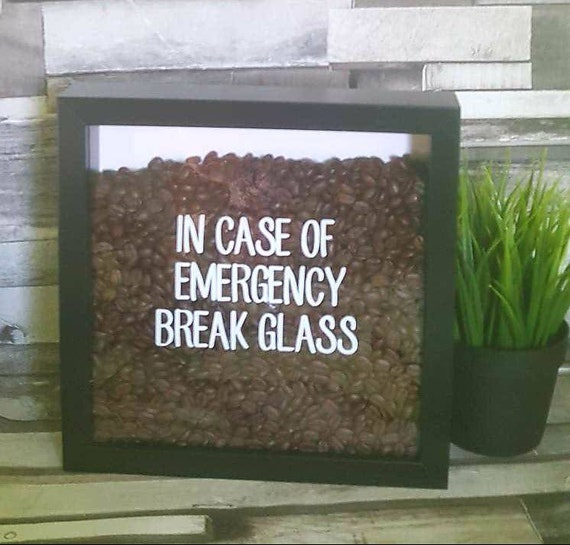 In Case of Emergency break glass Chocolat Boite Cadre Cadeau Pâques Anniversaire