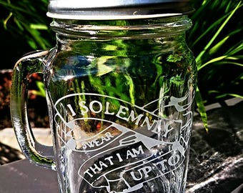 Harry Potter I Solemnly Swear that I Am Up To No Good Mason Drinking Jar - New