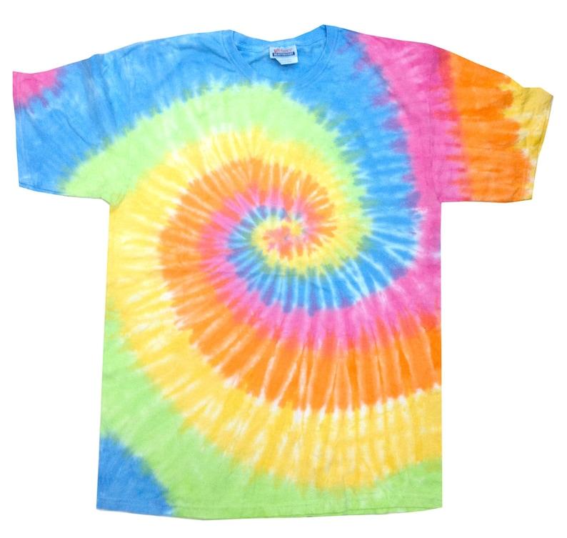 36efc68b996 Tie Dye T-Shirt Eternity Multi-Color Spiral Short Sleeve S M