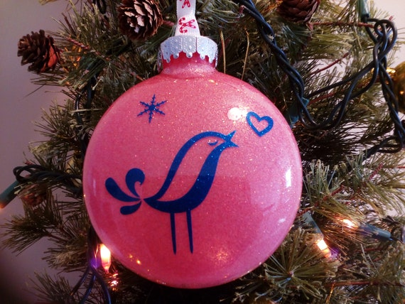 image 0 - Christmas Ornament Chirping Bird Decoration Holiday Vinyl Etsy